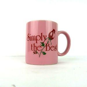 Vintage Simply the Best Pink Rose Coffee Mug